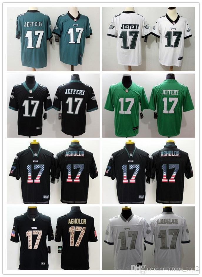 buy popular 471b5 db080 2019 Mens 17 Alshon Jeffery Philadelphia Eagles Football Jersey Stitched  Embroidery Eagles Alshon Jeffery #17 Color Rush Football Shirts