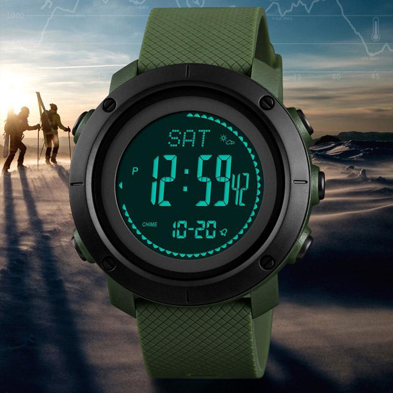 85ef85459d96 Compre Relojes Deportivos Hombres Calorías Podómetro Reloj Digital Mujeres  Altímetro Barómetro Brújula Termómetro SKMEI Tiempo Reloj Hombre A  41.51  Del ...