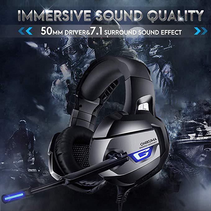 Nintend için Surround Ses Mikrofon Kulaklık Dizüstü R20 Geçiş 7.1 Enhanced PS4 için K5 Stereo Gaming Headset, Xbox One PC