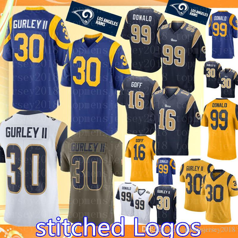 a8d4824f64317 ... reduced 2019 los angeles rams 30 todd gurley ii 16 jared goff jersey  cheap mens 99 ...