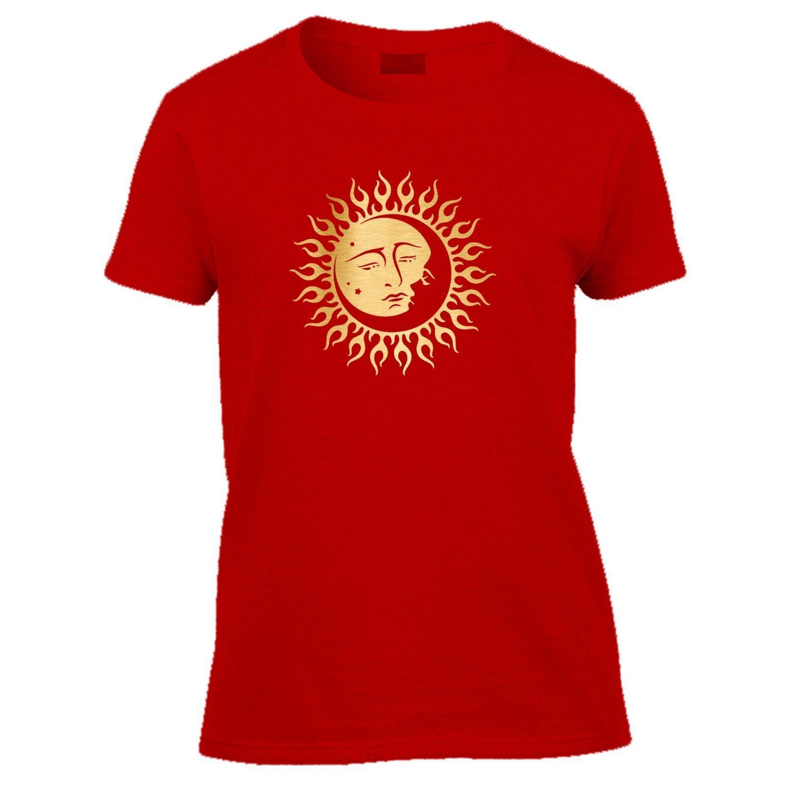 c2f71ddb676 sun moon tshirt mandala spiritual yoga indie cool tee womens short sleeved  Tee Men Women Unisex Fashion tshirt Free Shipping
