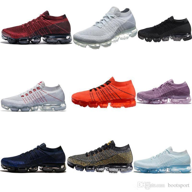 c4e977eb0cb1 2019 Zoom Presto 2019 Vapormax VM Air Running Shoes Children Athletic Shoes  Boys Girls Kids Training Sports Sneakers Red Black Gray Purple From  Left foot