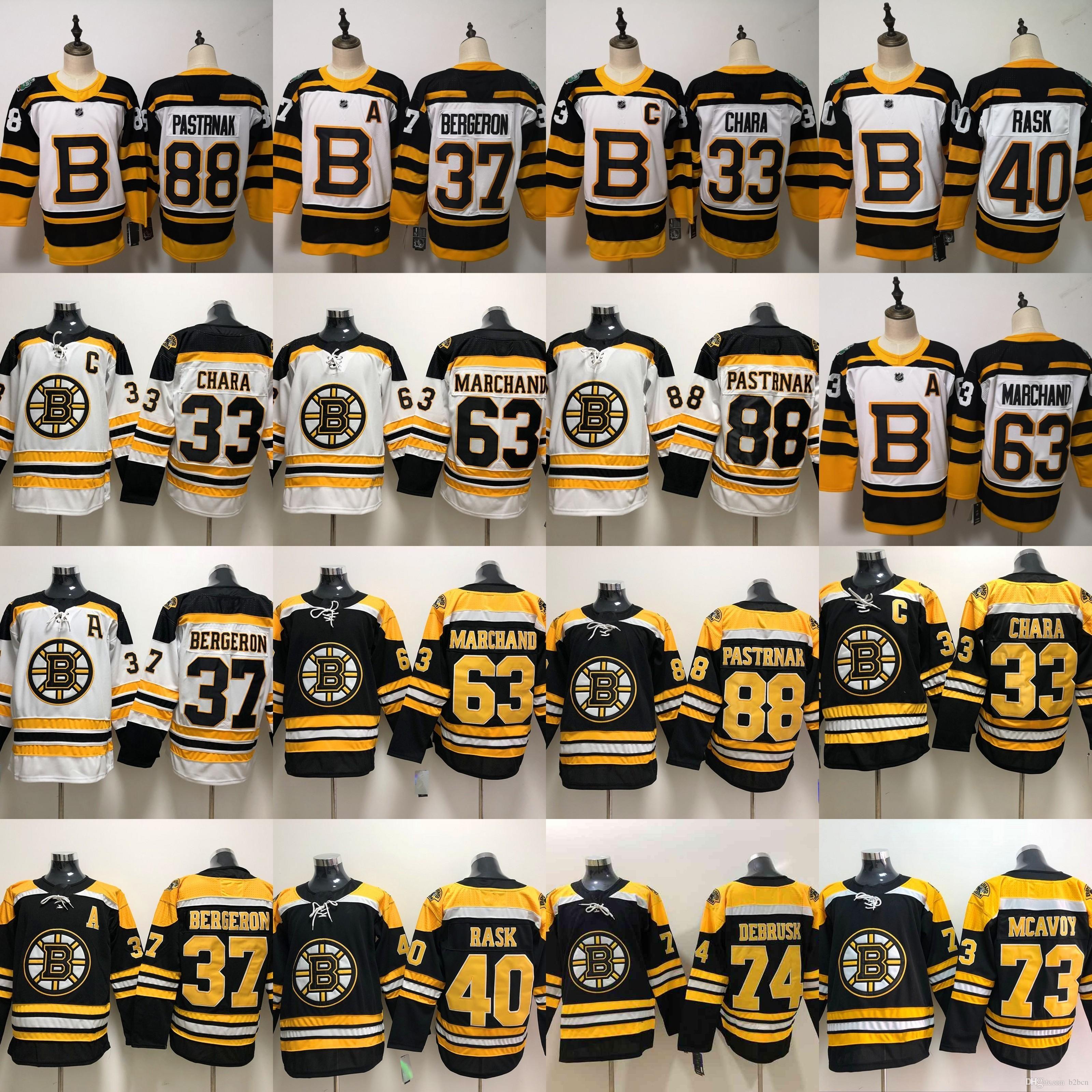 quality design f4a88 07663 Boston Bruins Charlie Mcavoy hockey Jersey Jake DeBrusk Zdeno Chara Patrice  Brad Marchand Cam Neely David Pastrnak Winter Classic uniform