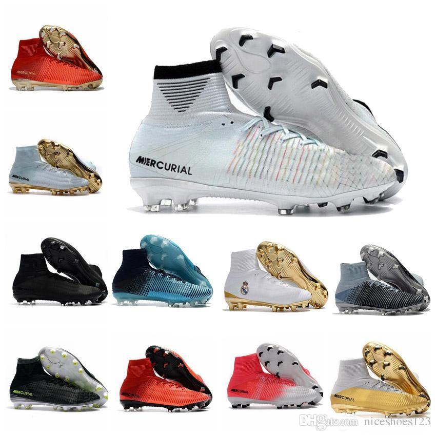 2019 Cheap Men 2019 Mercurial Superfly V SX Neymar IC Soccer Shoes Football Shoes Cristiano Ronaldo CR7 ACC Soccer Boots Mens Football Boots From