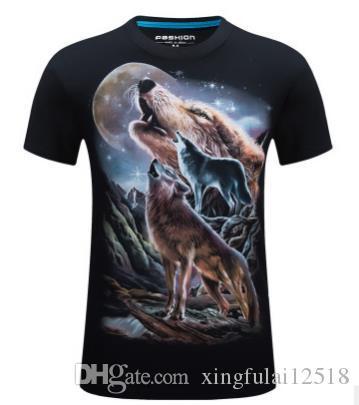 5a51e582 Newest Wolf 3D Print Men'S T Shirts Animal Cool Funny T Shirt Men Short  Sleeved Summer Tops Tshirt Male Skull Fashion Camisetas Graphic T Shirts  Custom ...