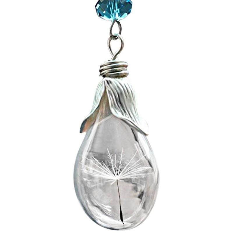 f62dd2fb5cf6 Compre Nuevo Diseño Popular Real Dandelion Wish Cadena De Oro Collar  Colgante Collar Regalo De La Joyería Venta Caliente A  33.48 Del Haydena