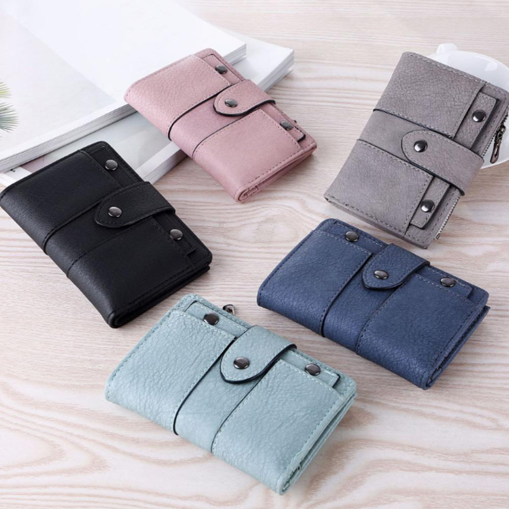 d2325111511 Women Waller Simple Retro Rivets Short Wallet Coin Purse Card Holders Girls  Small Bag Ladies Mini Wallet