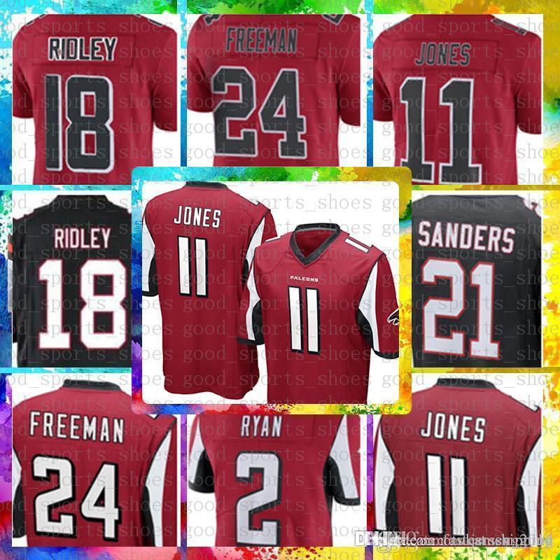 b27289f92 2019 Top Sale 11 Julio Jones 18 Ridley Atlanta Falcons Jersey 2 Matt Ryan  21 Deion Sanders 24 Devonta Freeman Color Rush Football Jerseys From  Tukameng2016, ...