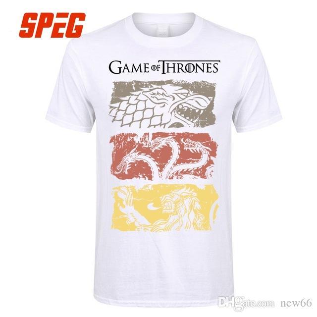 Tv Camisetas Tees Thrones Of De Game 2019 Hombres Camiseta Serie Targaryen Vintage Mujeres Casa Lujo Diseñador Stark 100Algodón BoQxCderW