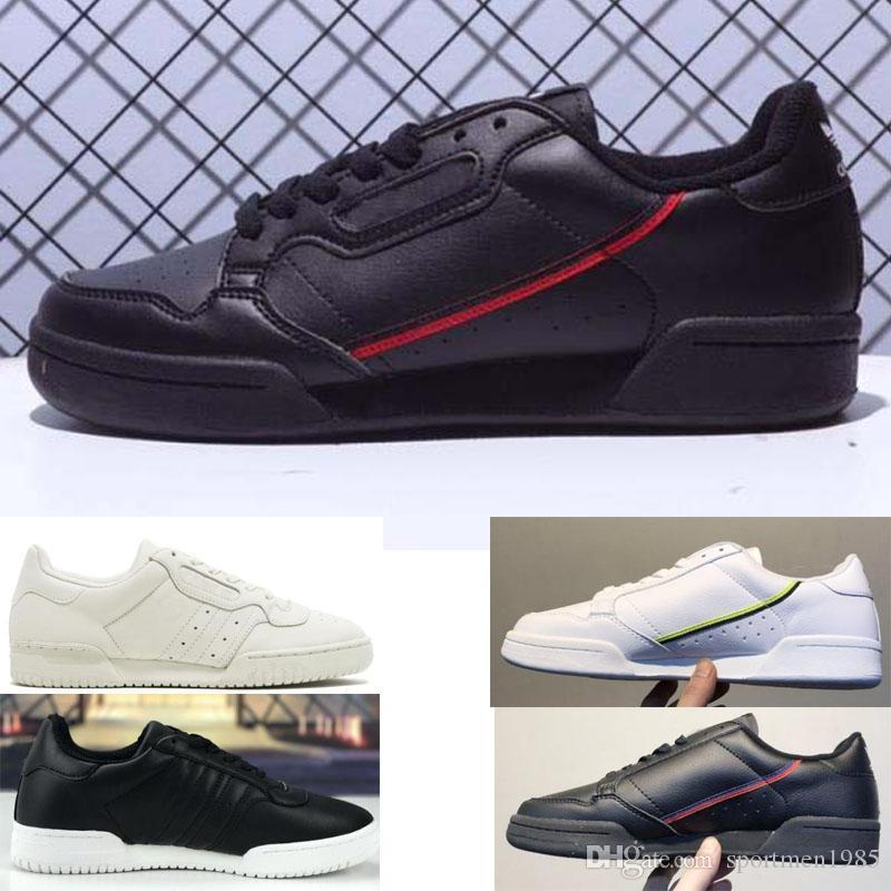 ffd53733f Compre 2019 Adidas Shoes Men Women Envío Gratis Clover Continental 80 Kanye  West Calabasas Powerphase Hombres Mujeres Clásico Triple Negro Blanco  Zapatos ...
