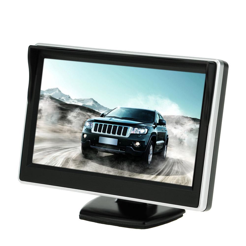 5.0 Inch Car Monitor TFT LCD 800*16:9 Screen 2 Way Video Input For Rear View Backup Car Rear View Camera VCD DVD GPS