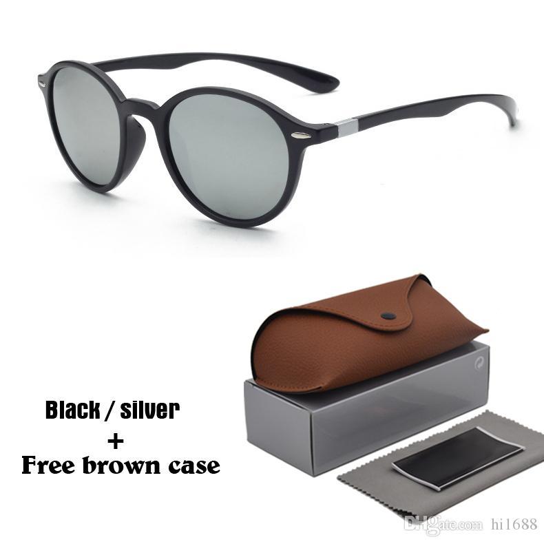 0b3bcf813aea Original Brand Designer Round Sunglasses Men Women Driving Glasses ...