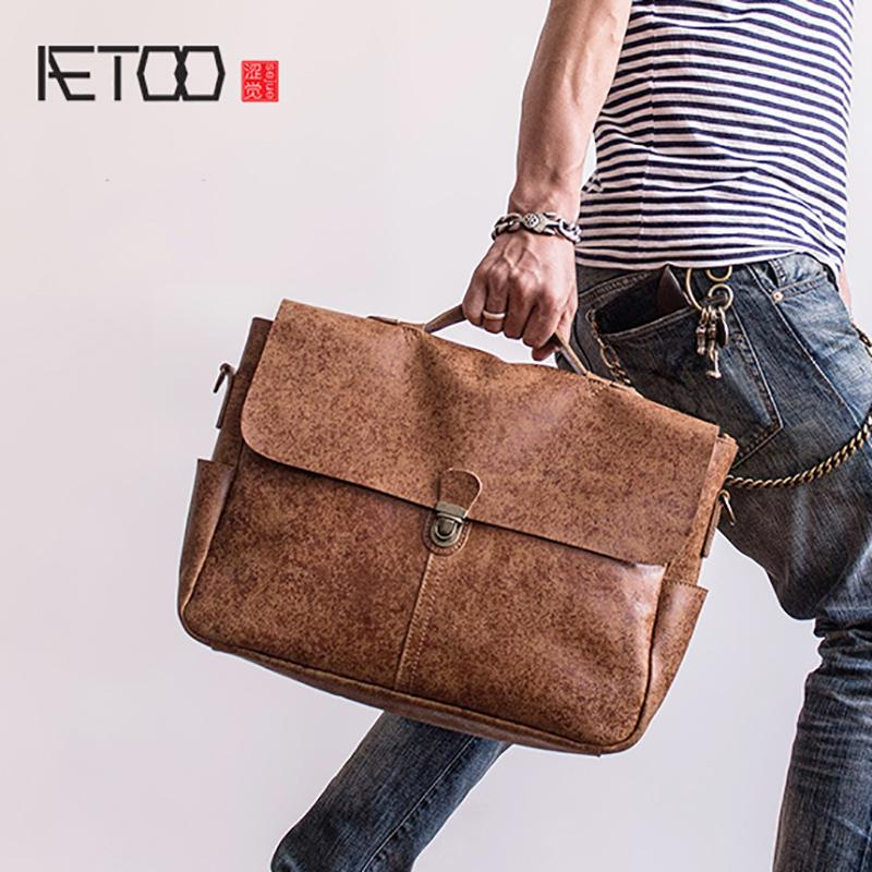 AETOO Head Cowhide Handbag Leather Postman Bag Business Single Shoulder  Male Computer Briefcase Cross Body Purses Cheap Designer Handbags From  Windclot a245ce8e238ec