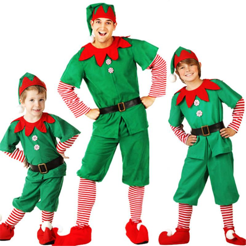 High Qualit Parent Child Christmas Costume Christmas Tree Cosplay