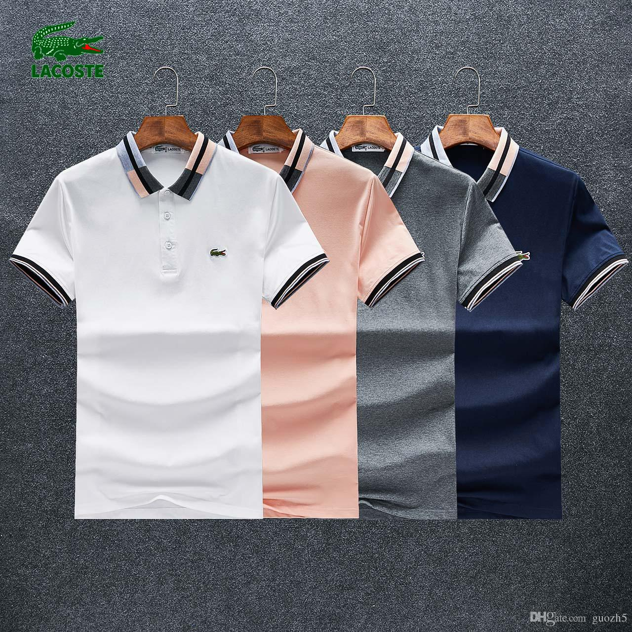 276133ba8e58ed Acquista 18s I Più Nuovi Designer 2019 Marchio Di Moda Polo Maschile Camicia  A Maniche Corte Uomo Polo Slim Fit Camicie Casual Polo Homme MTP067 A  $29.27 ...