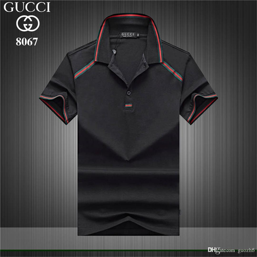 f8fe5b18860c7d 2019 18ss 2018 Sales Famous Business Men Shorts Sleeve Polo Shirts Popular  Cotton Embroidery Wheat Polos Custom Designers Made Fred Dress Shirts From  Guozh6 ...