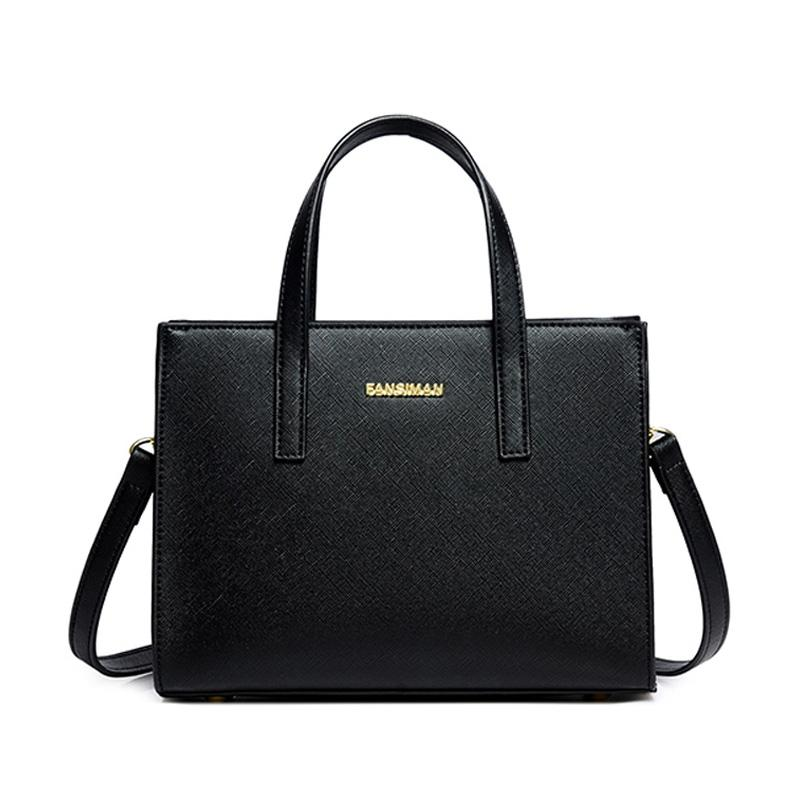 Fansiman Brand Luxury Women Handbags 2019 New Joker Fashion Shoulder Bag  Female Messenger Bags Ladies Design Pu Work Bag Ladies Purses Handbag  Wholesale ... 7198dd873b3a2