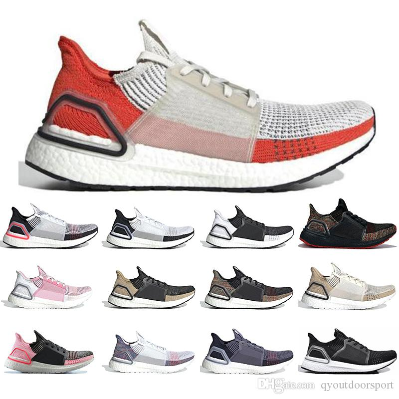 Adidas Boost Ultra Boost 19 Diseñadores Hombres Mujeres Zapatillas de running Ultraboost 5.0 Láser Rojo Núcleo de píxeles oscuro Negro Caqui Zapatilla