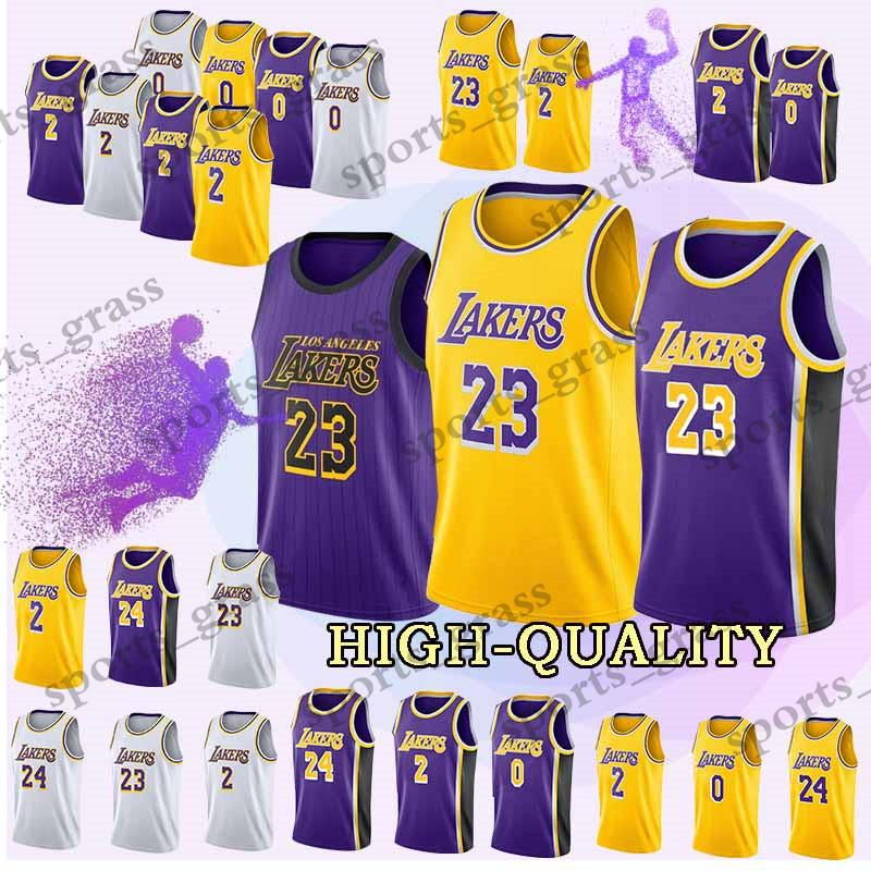 18 19 Los Angeles Jerseys Laker 23 LeBron James Kobe 24 Bryant Lonzo 2 Ball  Kyle 0 Kuzma Brandon 14 Ingram Jersey Adult Shirt UK 2019 From  Sports grass 72ede245e