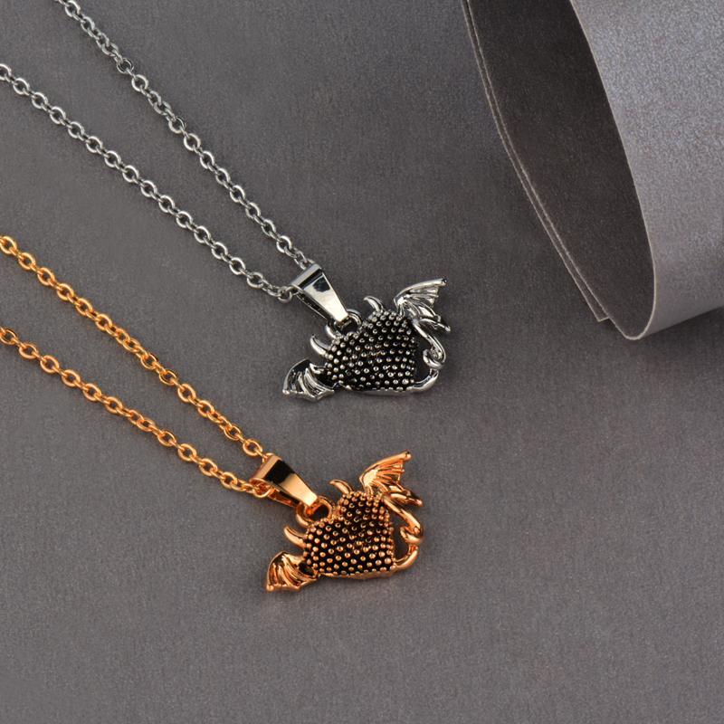 Collar colgante de corazón del diablo para mujer Cadena de eslabones de color plata dorada antigua Regalo de joyería personalizado Xl472 SSB