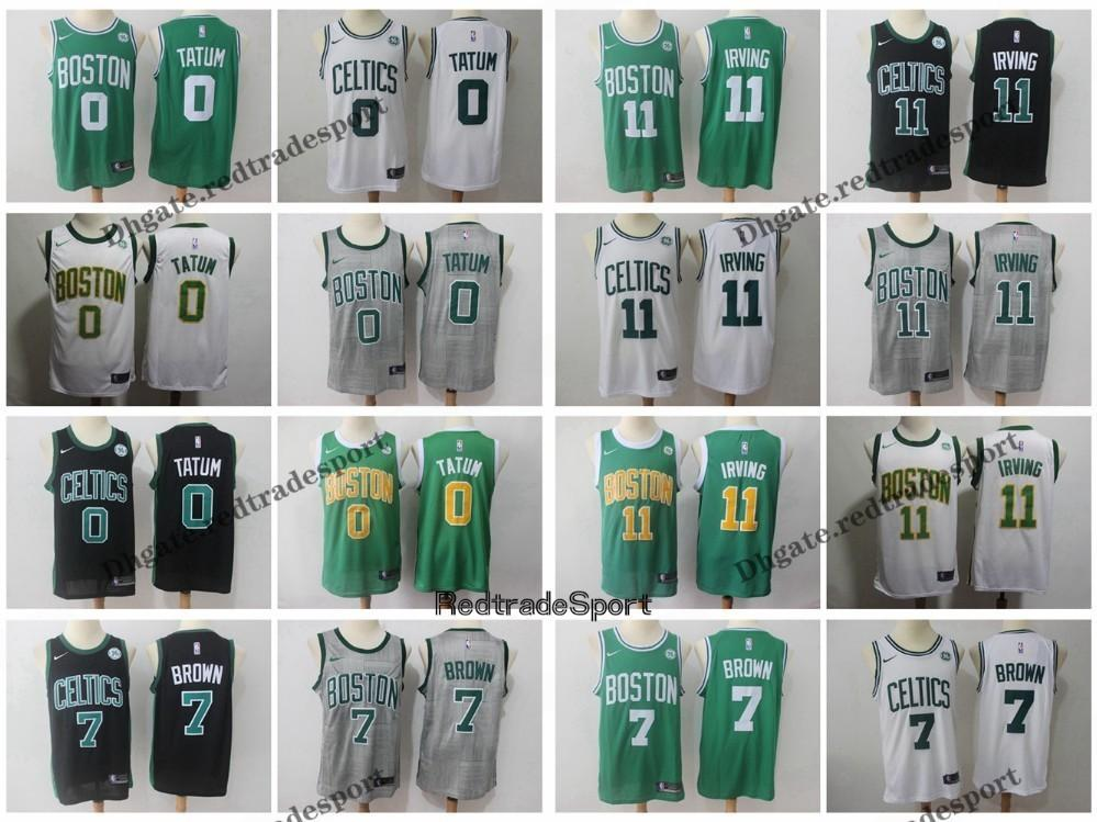 finest selection 72bc4 8ddf1 2019 Earned #11 Boston Kyrie Irving Jayson Tatum Jaylen Brown Edition  Basketball Jerseys Cheap City Stitched Shirts S-XXL