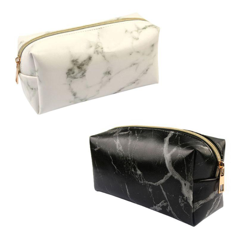 Marble Pattern Makeup Bag Organizer Cosmetic Pouch Travel Brush ... 328a39954974f