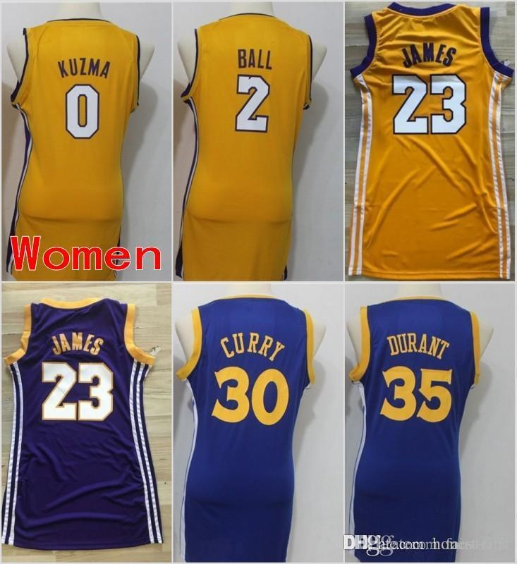 9102e819e Women Los Angeles 23 LeBron James Lakers Jerseys Golden State 30 ...