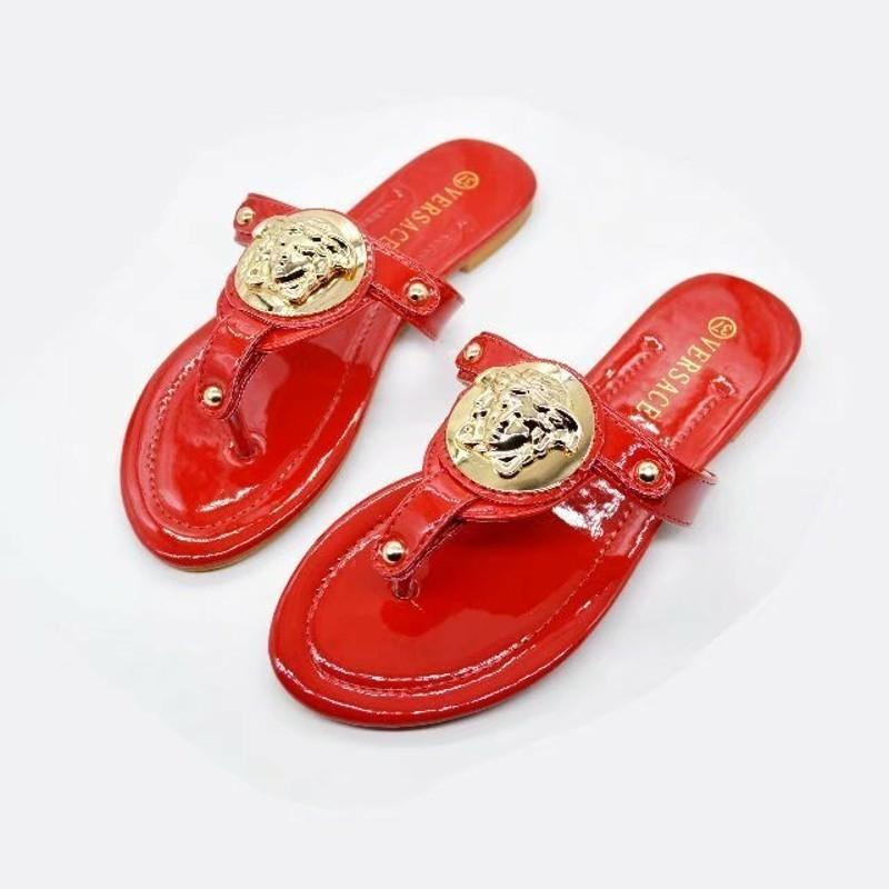 high quality luxury slippers women sandals designer shoes slip summer fashion smooth wide thick 35-42 sandals Brand slippers