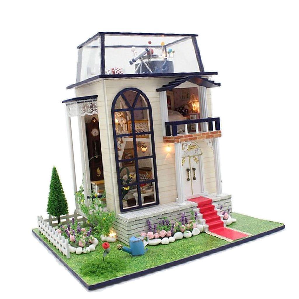 Grosshandel 1 24 Skala Puppenhaus Miniatur Diy Prinz House Kit Zimmer