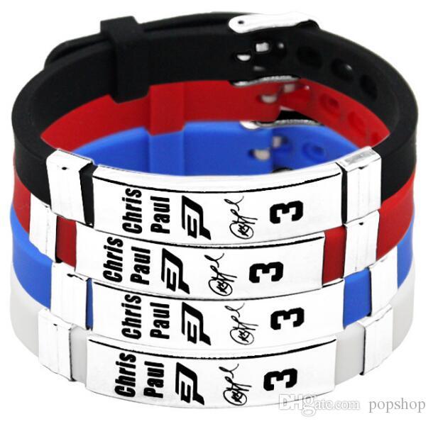 2018 Fashion smart wristband silicone wristbang Chris Paul George nine  craft high quality bracelet175*12*2 5