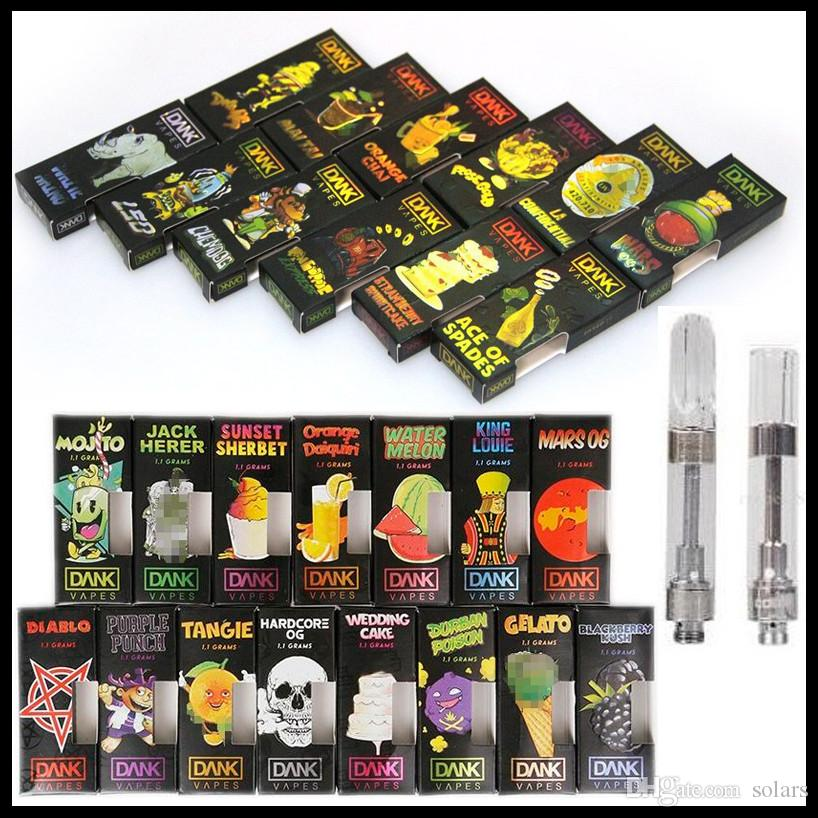 3D Hologram Box Dank Vapes Cartridge Pack Cereal Carts 1 0ml 1Gram Ceramic  Coil Vape Carts with Retail Package for Thick Oil Vaporizer