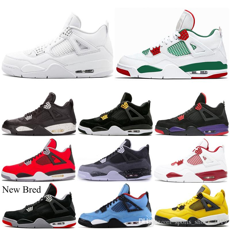 Farbe Classic 4s Basketball Schuhe 4 Athletic Sports Sneakers Bred New Old Oreo Raptors Tattoo Mens Trainer Outdoor Größe 7 13