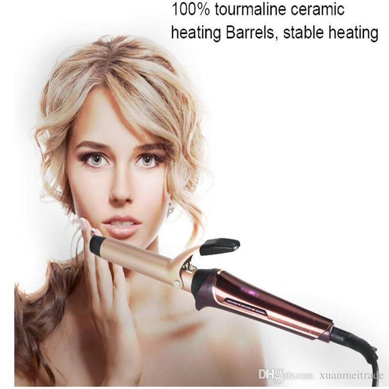 professional electric lcd fast heat hair curling iron roller waver styler wand ceramic hairstyling waver curler barrel waving