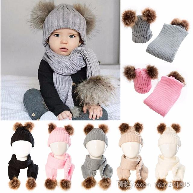 0ae750617e4 2018 Winter Puseky Infant Toddler Baby Boys Girls Fur Pom Pom Ball ...
