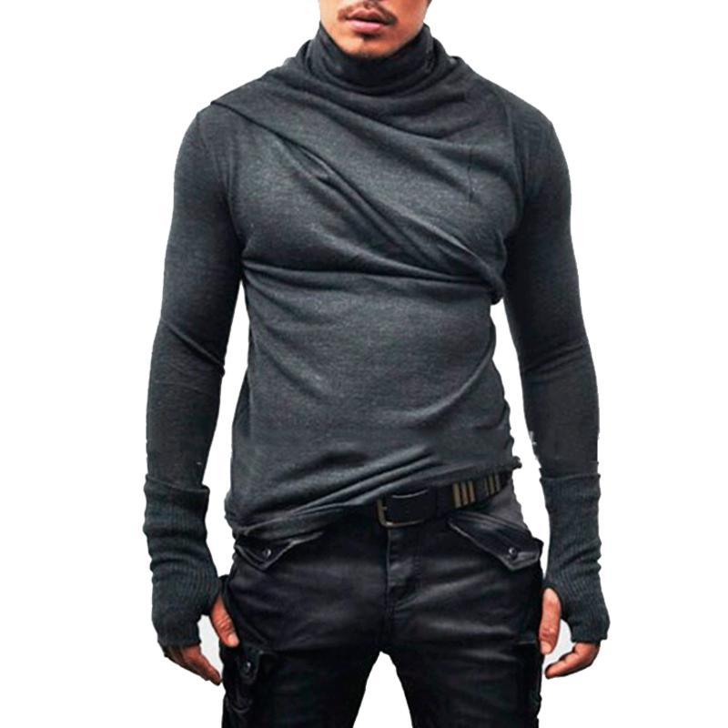 558ec27bb323 Male 2019 Brand Long Sleeve Fashion Solid Color Casual Gloves T Shirt  Turtleneck Slim Men T Shirt Tops Mens Tee Shirt T Shirts T Shirts With  Awesome Cheap T ...