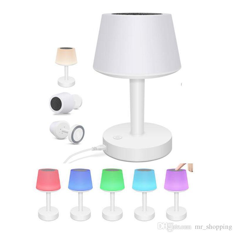 Sonido Lámpara LED Altavoz Deak envío bajo Altavoz stero Noche de mesa inalámbrico DHL Inteligente de Altavoz inalámbrico Colorido Moda 6yb7fg