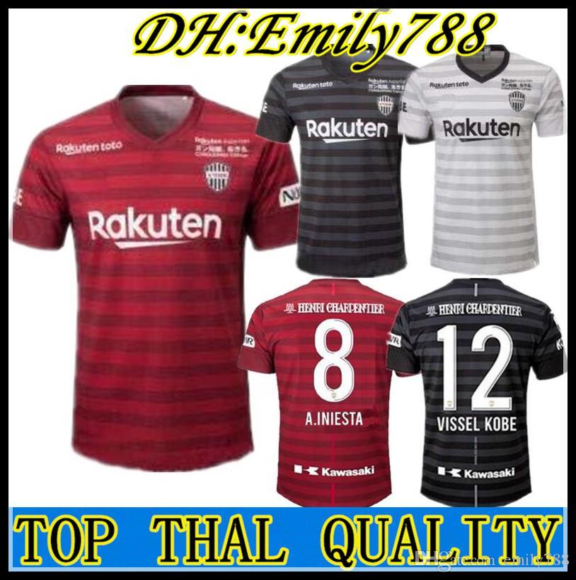 96f85f43540 2019 Japan J.League 2019 Vissel Kobe Soccer Jersey Home Away Third 19 20  A.INIESTA PODOLSKI DAVID VILLA Football Shirts Top Quality Customize From  Emily788, ...