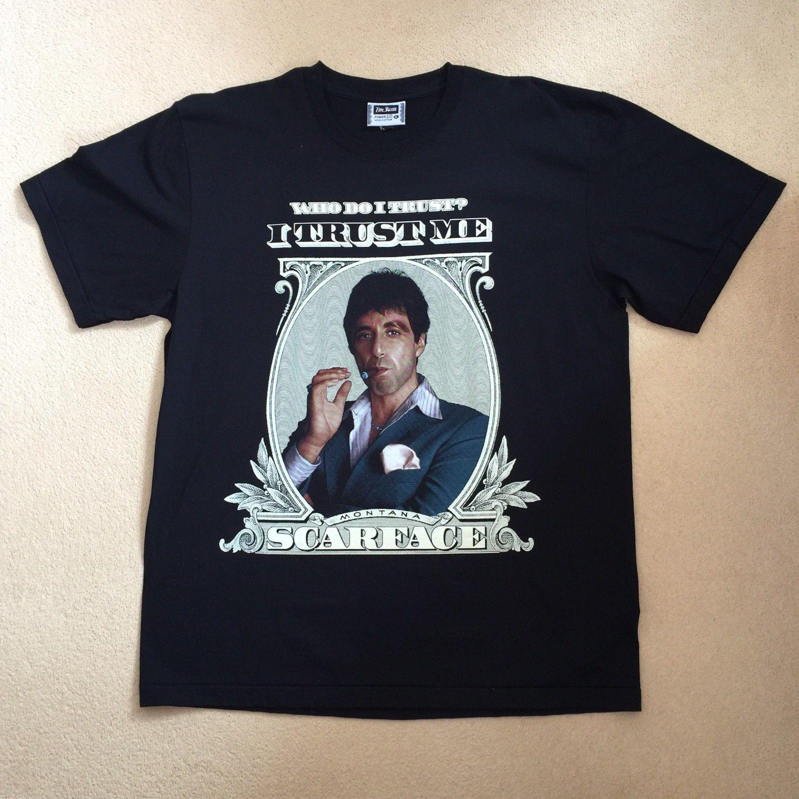 RARE Vintage Retro Scarface Tony Montana Al Pacino T Shirt Cult Mafia Mob  TeeMen Women Unisex Fashion Tshirt The Who T Shirt T Shirts Designs From ... 21ccba978c