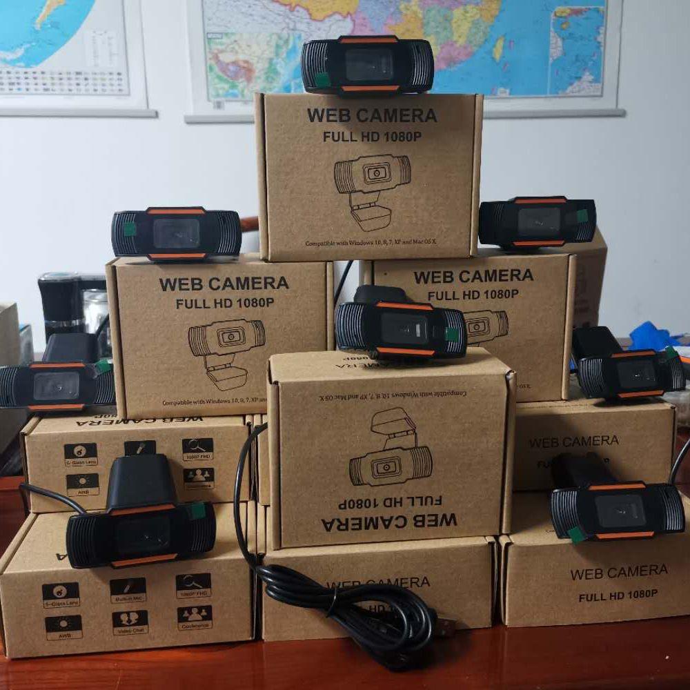 Cámara web de Webcam HD 30FPS 480p / 720p / 1080p PC Micrófono absorbente de sonido incorporado USB 2.0 Registro de video para computadora PC portátil en stock
