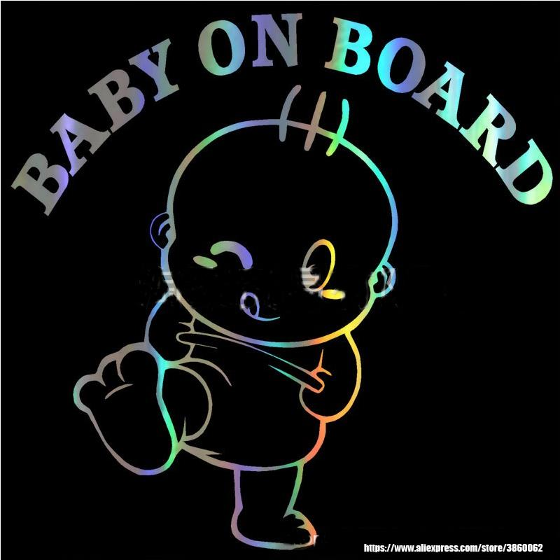 Fashion creative cool baby 15.5 * 15.2CM BABY ON BOARD car window tail car model 3D stereo car sticker
