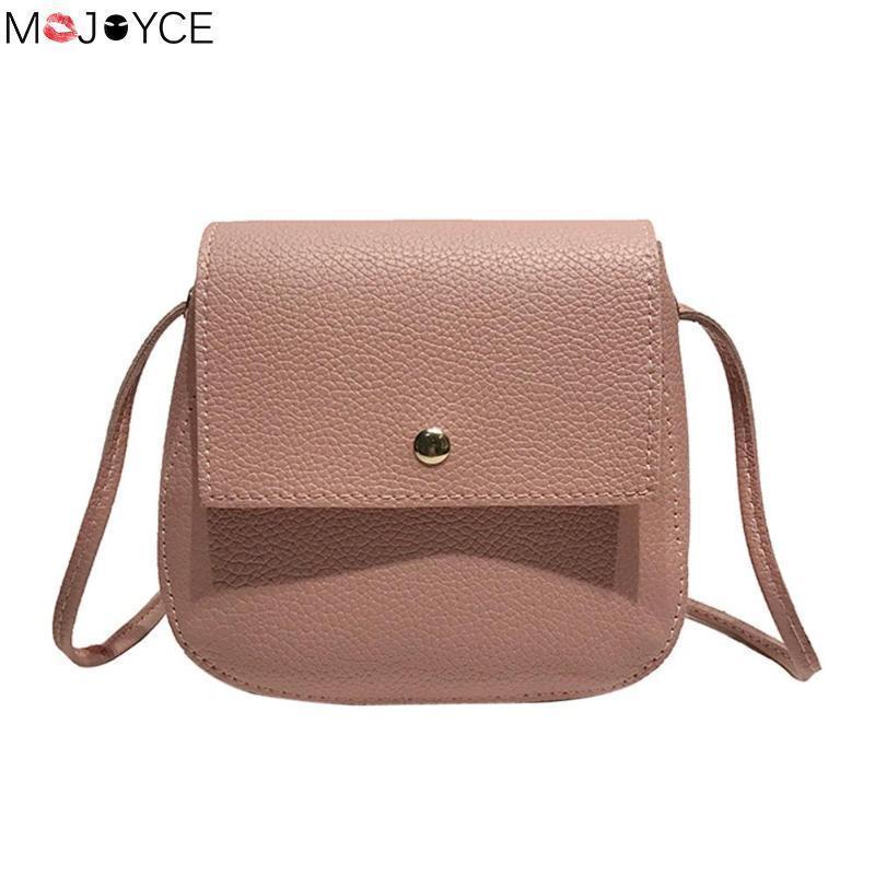 ffca5b0891 Cheap Simple PU Leather Crossbody Bags Women Solid Color Feminina Mochila Messenger  Shell Small Phone Shoulder Handbags Cheap Designer Handbags Black ...