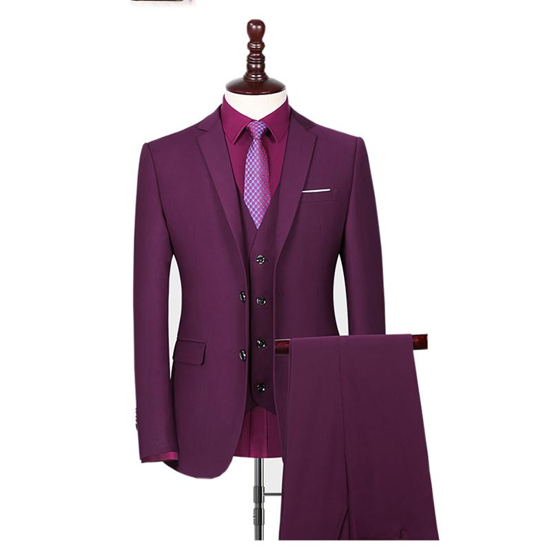 Custom Made Red Men Suit Wedding Smoking dello sposo bello partito Slim Fit Uomo Blazer Suit uomo con pantaloni 3 pezzi (Jacket + Pant + Vest)