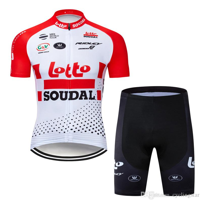 231f74b2560 LOTTO 2019 Summer Short Sleeve Men Bicycle Clothing Mountain Cycling Jersey  Set Road Bike Sport Suit Y021902 LOTTO Cycling Jerseys 2019 Men Ropa  Ciclismo ...