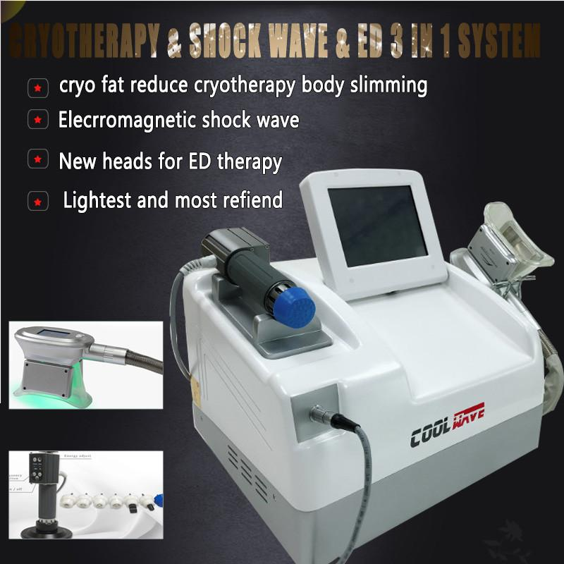 2020 Portable EWT Shock Wave Cryotherapy Slimming Arrival 2 In 1 Shockwave Cryolipolysis Vaccum Pain Relief Slimming Machine
