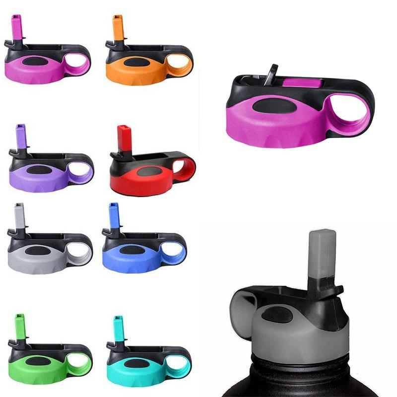 Colorful Double Straw Flip Lid cap for Stainless Steel Vacuum Insulated Cup Wide Mouth Cover Water Bottle Sport Outdoor A19040820pcs