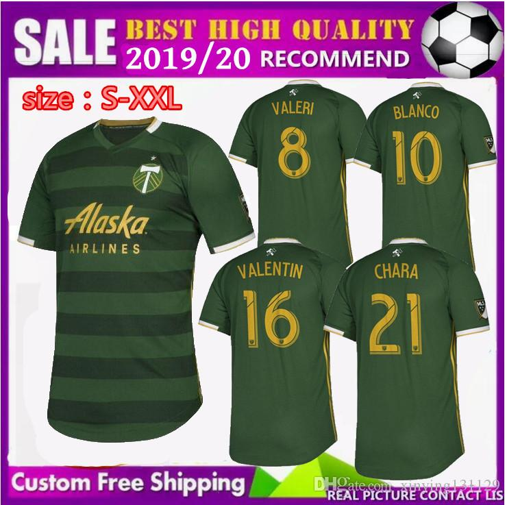 fe949ba7995 free Ship NEW 2019 2020 MLS Men s Portland Timbers home soccer jerseys 19  20 BLANCO CHARA VALENTIN VALERI MEN Football jersey Shirts