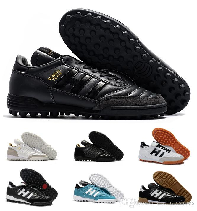 Classiques Hommes Copa MUNDIAL GOAL INDOOR Équipe Astro Artisanat Moderne TF TURF Football Football Chaussures Bottes Scarpe Calcio Pas Cher Crampons