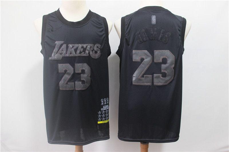 official photos eb0fc 5108e Mens LeBron 23 James Los Angeles LAK Laker MVP Swingman basketball Jersey  Black