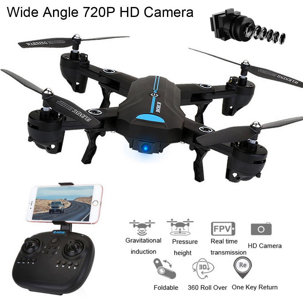 New A6HW Wifi FPV 720P FOV Camera 2.4G Selfie RC Quadcopter Drone Toys helicopter remote control mini drones with camera hd