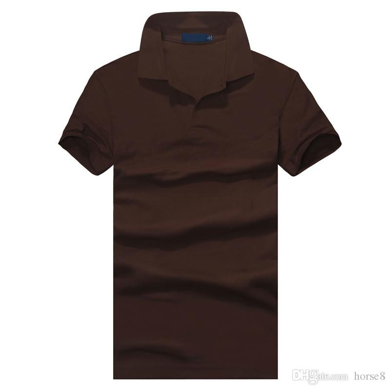 Top abbigliamento New Polo uomo Polo Small Ricamo Business Casual solido polo maschile t-shirt manica corta traspirante